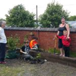 inter-generational gardening at the Gower Old School House