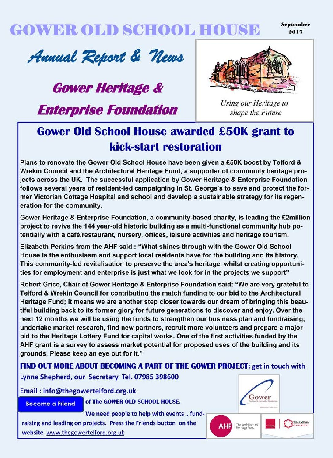 Gower Annual Report 2016-2017 Final
