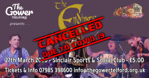 CANCELLED-The Gower Telford event - The Endings