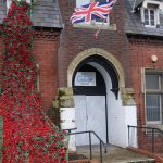 Remembrance poppy display at The Gower Telford